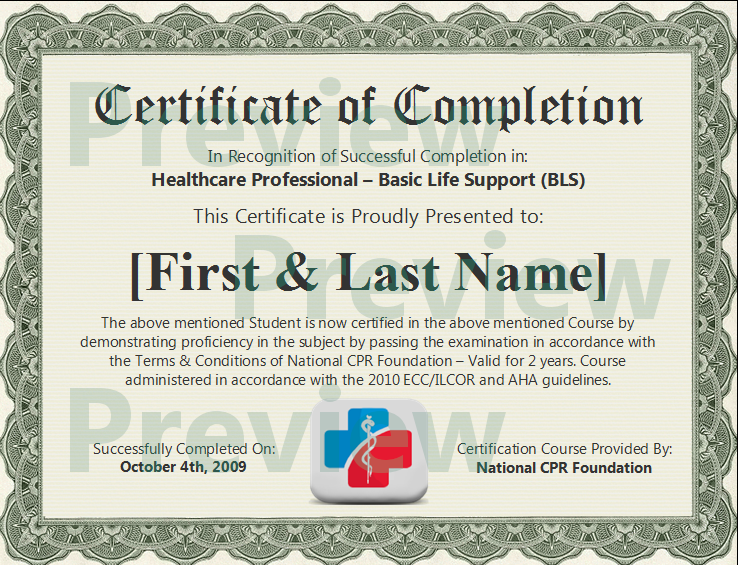 Online Cpr First Aid Basic Life Support Certification Cpr